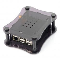 Obudowa Raspberry Pi 3/2 + DigiOne - akrylowa - czarna