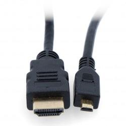 Przewód microHDMI - HDMI - 1,5m