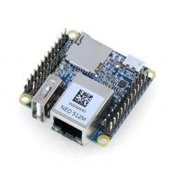 NanoPi NEO v1.4 - Allwinner H3 Quad-Core 1,2GHz + 512MB RAM - ze złączami