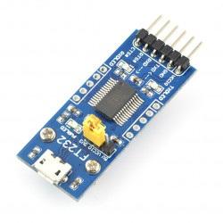 Konwerter USB-UART FTDI FT232 - gniazdo microUSB