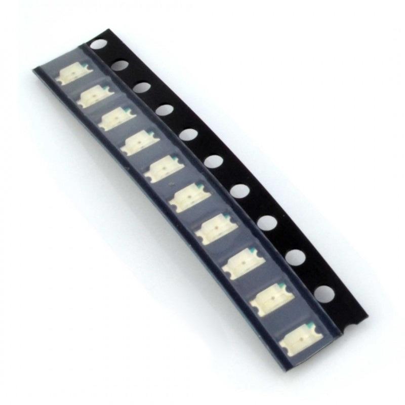Dioda LED smd 1206  zielona - 10 szt.