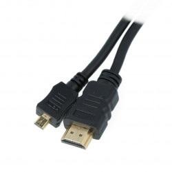 Przewód pozłacany Goodbay High Speed HDMI z obsługą Ethernet wtyk HDMI (typ A) - micro HDMI (typ D) - 5m