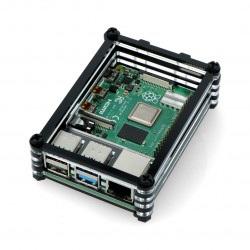 Obudowa Raspberry Pi Model 4B - czarno-przezroczysta - LT-4B10