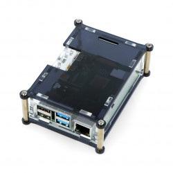 Obudowa Raspberry Pi Model 4B - czarno-przezroczysta - LT-4B26