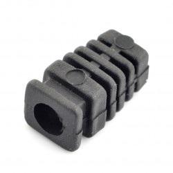 Odgiętka na przewód czarna fi 7mm
