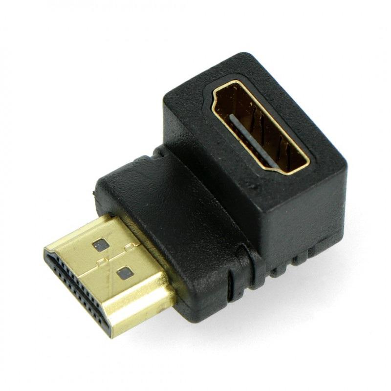 Przejściówka kątowa HDMI gniazdo - wtyk