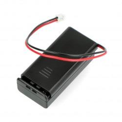 Koszyk na baterie 2xAAA z wtykiem JST 2mm - micro:bit