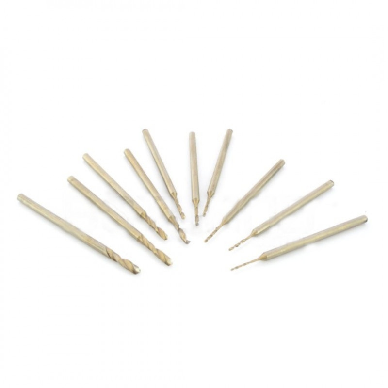 Wiertła miniaturowe 10szt - 0,6 do 2,3 mm