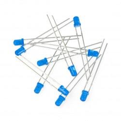 Dioda LED 3mm niebieska - 10szt.