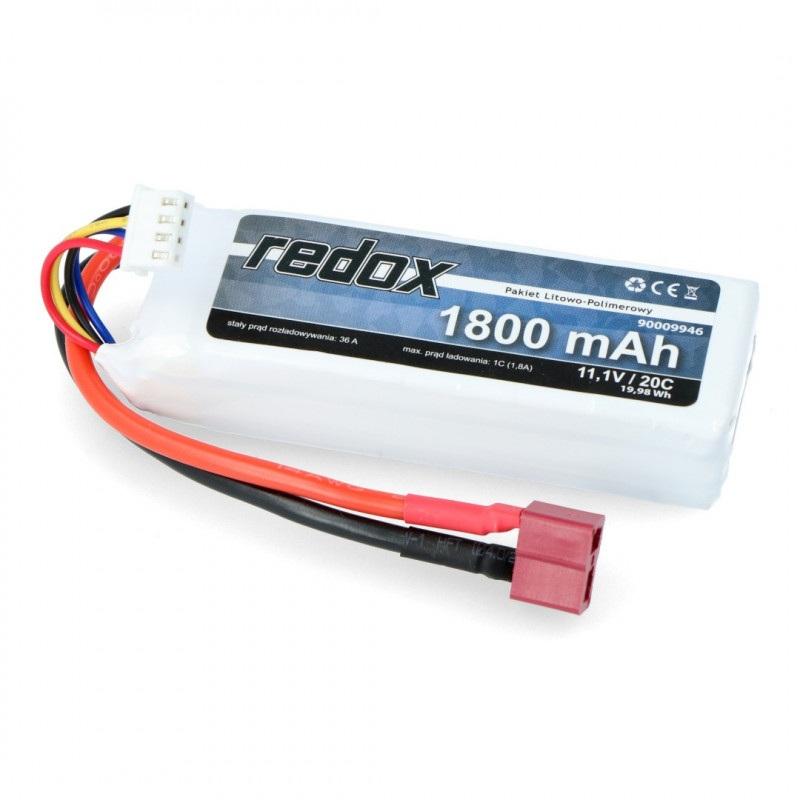 Pakiet LiPol Redox 1300mAh 20C 3S 11.1V