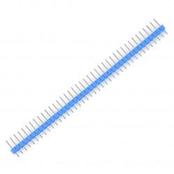 Wtyk goldpin 1x40 prosty raster 2,54 mm - niebieski