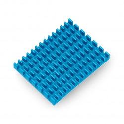 Radiator 40x30x5mm dla Raspberry Pi 4 z taśmą termoprzewodzącą - niebieski