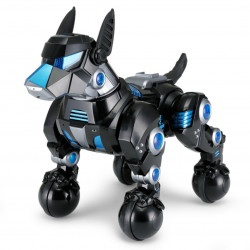 Interaktywny piesek DOGO Rastar 1:14 (śpiewa, tańczy, wykonuje komendy, LED) - Czarny