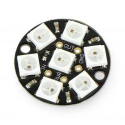 Adafruit NeoPixel Jewel - pierścień LED RGB 7 x WS2812 5050