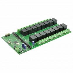 Numato Lab - 16-kanałowy moduł przekaźników 24V 7A/240V + 10 GPIO - USB
