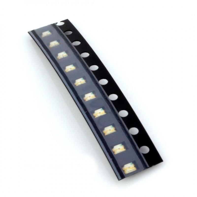 Dioda LED smd 0805  żółta - 10 szt.