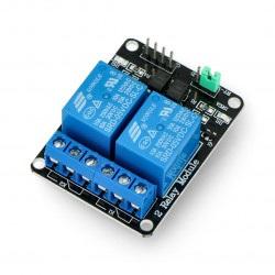 Moduł przekaźników Iduino 2 kanały z optoizolacją - styki 10A/250VAC - cewka 5V