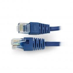 Przewód sieciowy Ethernet Patchcord UTP 5e 0,25m - niebieski