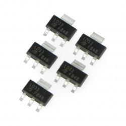 Stabilizator  LDO 3,3V LM1117MP - SMD SOT223