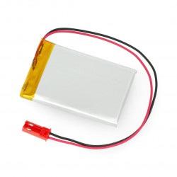 Akumulator Li-Pol Akyga 800mAh 1S 3,7V - złącze JST-BEC + gniazdo - 50x33x4,5mm
