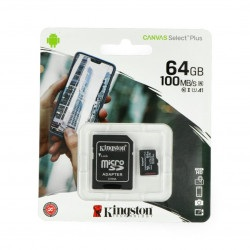 Karta pamięci Kingston Canvas Select Plus microSD 64GB 100MB/s UHS-I klasa 10 z adapterem