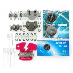 Zestaw Electro-Fashion rozszerzony z sześcioma modułami diod LED
