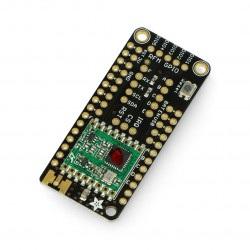 Adafruit FeatherWing moduł radiowy LoRa 433MHz - nakładka dla Feather