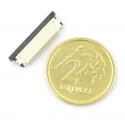 Złącze żeńskie ZIF, FFC/FPC, poziome 54 pin, raster 0,5 mm, dolny kontakt