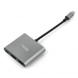 Hub - Multiport Natec Fowler Mini - USB-C PD HDMI - szary