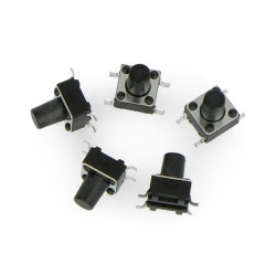 Tact Switch 6x6mm / 8mm SMD - 5szt
