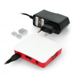 Zestaw Raspberry Pi 3A+ WiFi + oryginalna obudowa + zasilacz 5V/2,5A