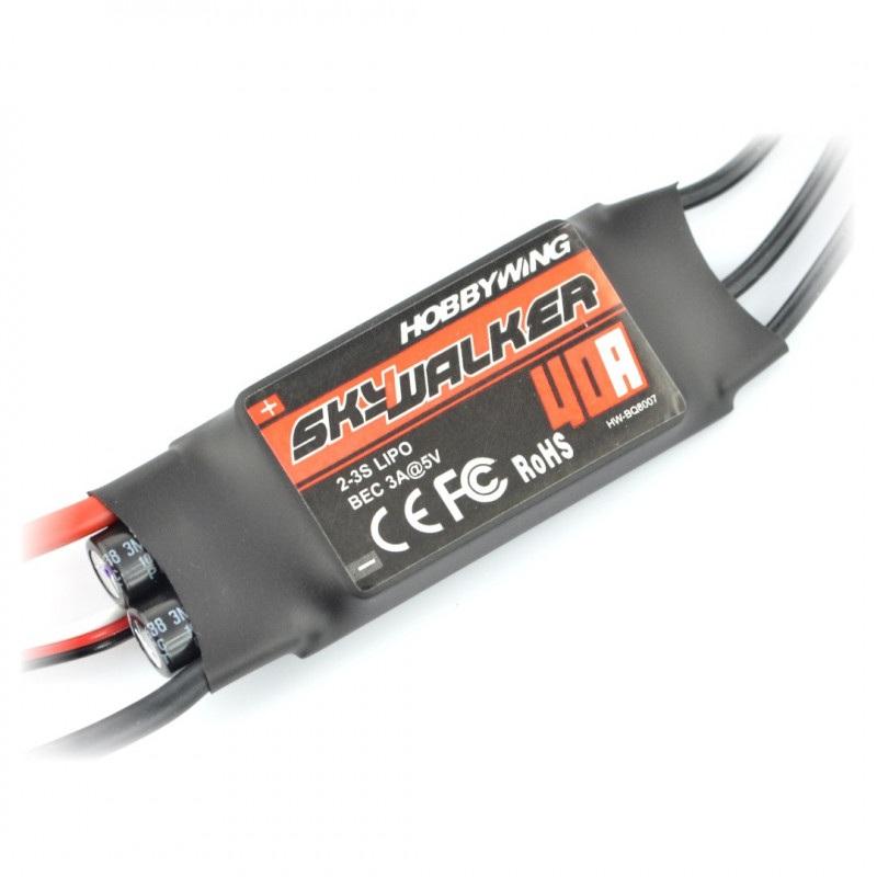 Sterownik silnika bezszczotkowego SkyWalker 40A ESC UBEC 2-4S