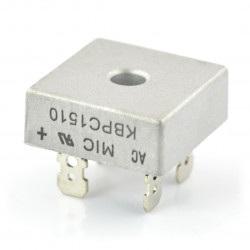 Mostek prostowniczy KBPC1510 - 15A / 1000V z konektorami