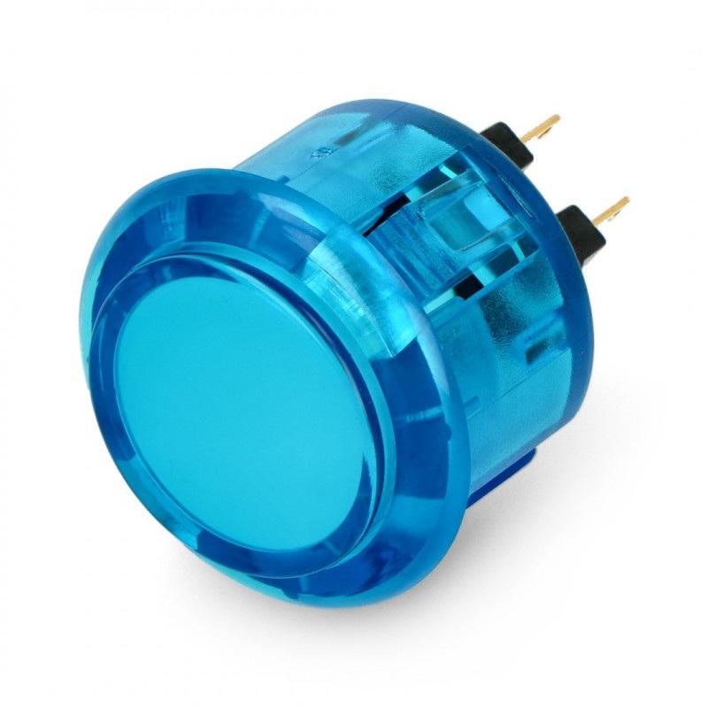 Adafruit Arcade Button 3,3cm przeźroczysty - niebieski