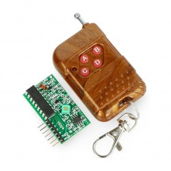 Czterokanałowy moduł radiowy 433 MHz + pilot