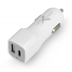 Ładowarka samochodowa Extreme 3,1A, PD-USB