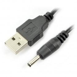 Przewód zasilający USB - DC 3.5x1,3mm