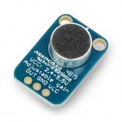 Adafruit MAX4466 - mikrofon elektretowy z wzmacniaczem