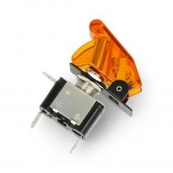 Przełącznik dźwigniowy ON-OFF 12V/20A podświetlany - żółty