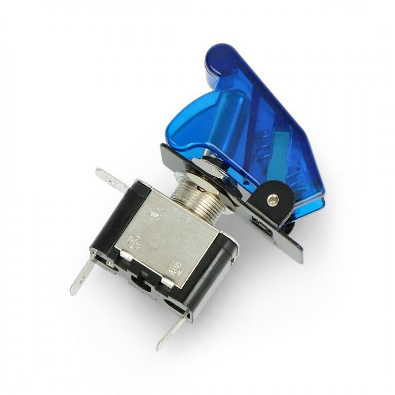 Przełącznik dźwigniowy ON-OFF 12V/20A podświetlany - niebieski