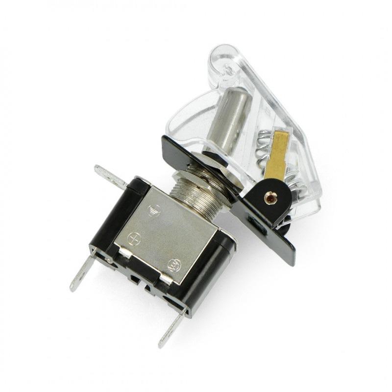 Przełącznik dźwigniowy ON-OFF 12V/20A podświetlany - biały