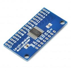 Moduł z multiplekserem analogowo-cyfrowym CD74HC4067