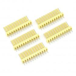 Złącze raster 2,54mm - wtyk 12-pinowy - 5szt.