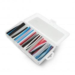 Zestaw rurek termokurczliwych 10cm - 5 kolorów, 6 średnic- 170 szt.