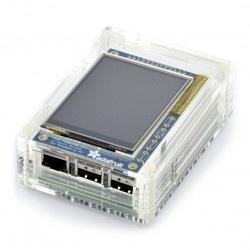 Obudowa do Raspberry Pi B+ i ekranu PiTFT - przezroczysta