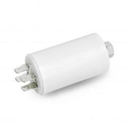 Kondensator silnikowy 8uF/450V 35x62mm z konektorami