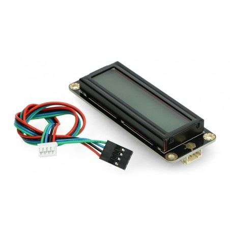 DFRobot Gravity - wyświetlacz LCD 2x16 I2C - szary - dla Arduino