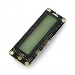 DFRobot Gravity - wyświetlacz LCD 2x16 I2C - zielony - dla Arduino