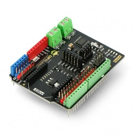 DFRobot Gravity: IO Expansion & Motor Driver Shield dla Arduino 12V/1,2A