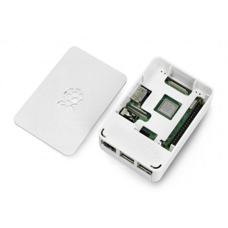 Obudowa Raspberry Pi Model 3B+ / 3B / 2B RS - biała z klapką